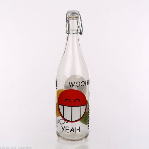 Swing Top Bottle 1L Happy